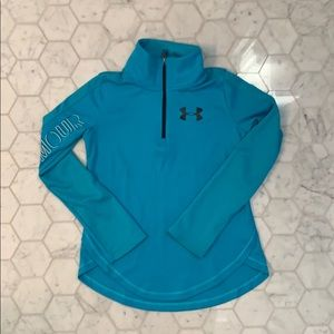Under Armour Girls Zip up long sleeve T-Shirt